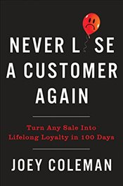 Never Lose a Customer Again: Turn Any Sale Into Lifelong Loyalty in 100 Days - Coleman, Joey
