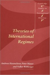 THEORIES OF INTERNATIONAL REGIMES - HASENCLEVER, ANDREAS