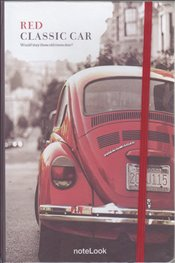 NoteLook - Red Classic Car Çizgisiz Defter A5 100yp. -