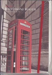NoteLook - Red Telephone Booth Çizgisiz Defter A5 100yp. -