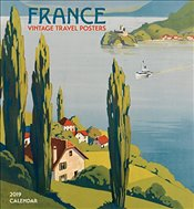 France Vintage Travel Posters 2019 Wall Calendar -