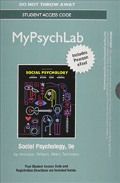 NEW MyLab Psychology with Pearson eText -- Standalone Access Card -- for Social Psychology - Aronson, Elliot