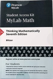 MyLab Math with Pearson eText -- Access Card -- for Thinking Mathematically - Blitzer, Robert F.