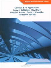 Calculus & Its Applications: Pearson New International Edition - Goldstein, Larry J.