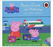 Peppa Goes on Holiday and Other Stories : 10 Books Set and Audio CDs -