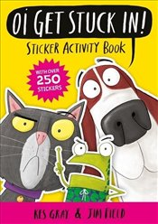 Oi Get Stuck In! Sticker Activity Book - Gray, Kes