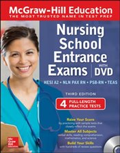 McGraw-Hill Education Nursing School Entrance Exams with DVD 3e - Zahler, Kathy A.