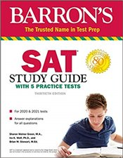 SAT Study Guide with 5 Practice Tests 30e -