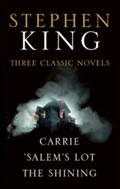 Stephen King Three Classic Novels Box Set : Carrie, Salems Lot, The Shining - King, Stephen