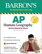 AP Human Geography With 3 Practice Tests - Barrons Test Prep - Marsh, Meredith