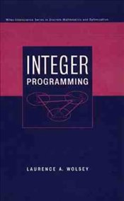 Integer Programming - WOLSEY, LAURENCE A.